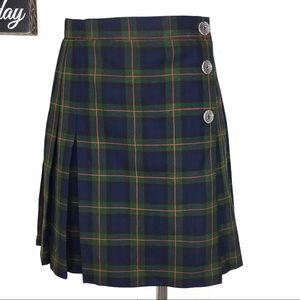 Vintage 90s Star C.C.C. Plaid Mini Skirt